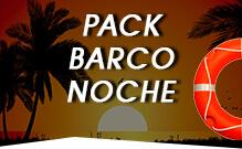 Pack Barco Noche despedidas de soltero Gandía